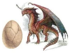 drak s vejcem