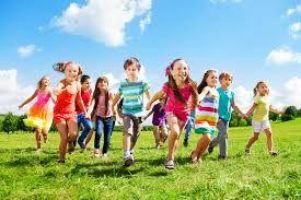 běžící děti